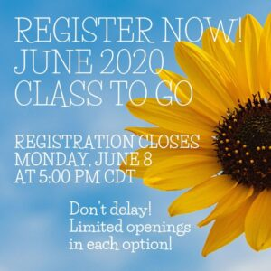 Register Now – June 2020 Class to Go